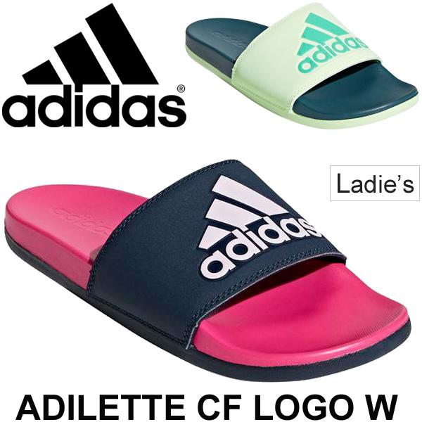 ecbcd2eb0686 Sports sandals Lady s Adidas ADILETTE CF adidas アディレッタ CF logo W  shower  sandals CG3428 CG3429  slipper アフタースポーツスポサンシャワサン ぺたんこ ...