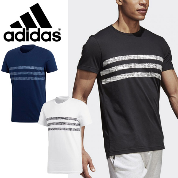 20d2f94a43eb9 APWORLD: T-shirt short sleeves men Adidas adidas 3 stripe graphic ...