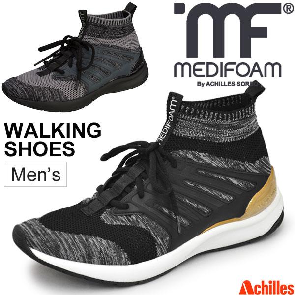 ウォーキングシューズ メンズ アキレス メディフォーム MEDIFOAM PURECONCEPT-MF500 男性 3E ミッドカット おしゃれ カジュアル ACHILLES SORBO MEDIFOAM 靴 スポーツシューズ/MFW5000