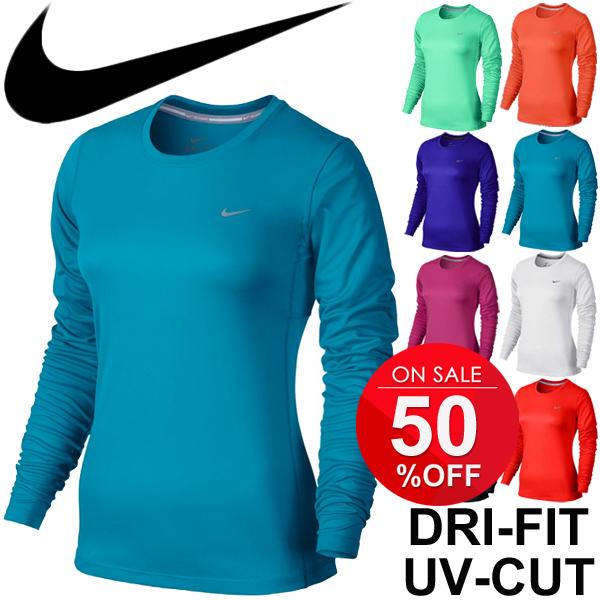 c5c8b907e01 Women's running Mylar T shirt dryshats shirt nike DRI-FIT crew neck long  sleeve ...