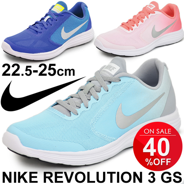 aca607f6a59 Junior shoes Nike NIKE sneaker kids shoes girls revolution 3GS shoes  athletic shoes   819416   05P03Sep16