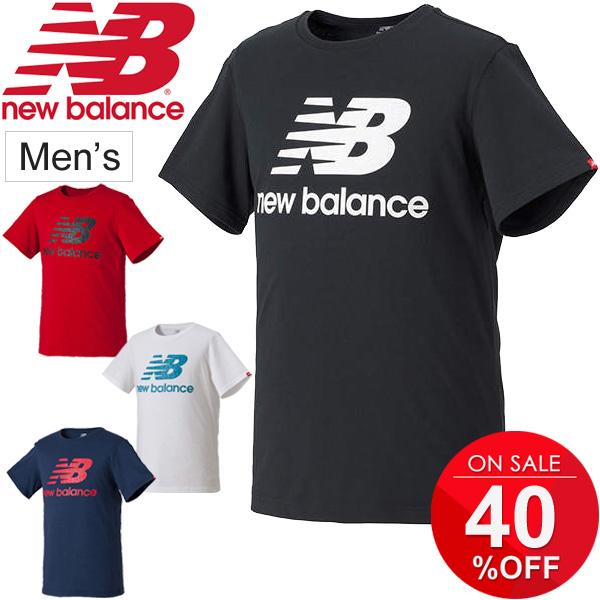 dea6210764c6a Tops /AMT73589 for the shirt short sleeves men New Balance essential field  logo T newbalance ...