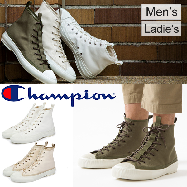 チャンピオン スニーカー ミリタリーライン ハイカットシューズ/メンズ レディース 靴 Champion ROCHESTER HI BS /くつ Foot Wear 正規品 日本製/C2-L702[rP15-14day]
