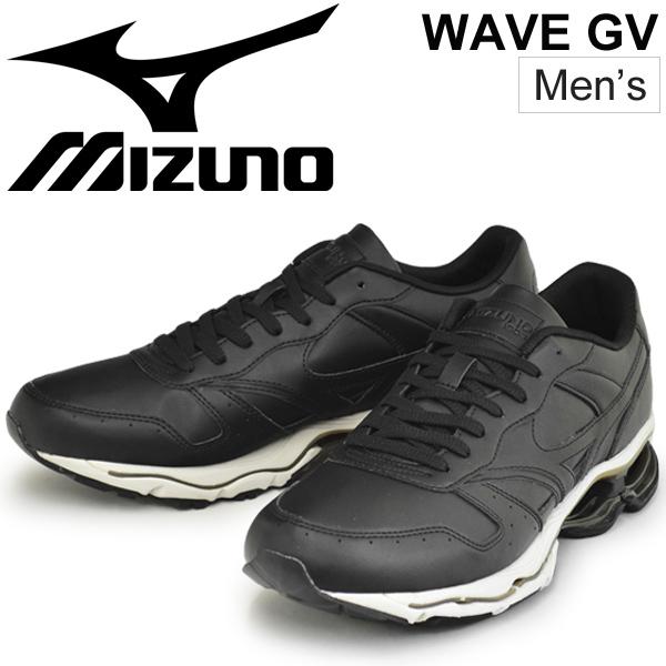 メンズスニーカー ミズノ MIZUNO WAVE GV/ローカット シューズ 男性 2E EE 靴 スポーツカジュアル MIZUNO1906 ブラック くつ /D1GA1811