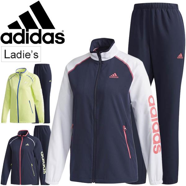 トレーニングウェア 上下セット レディース アディダス adidas TEAM クロス リニア ジャケット パンツ/女性 フィットネス ジム スポーツウェア 吸汗速乾 UPF50+ セットアップ/EUA62-EUA60