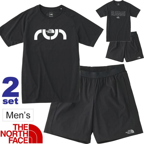 ランニングウェア 半袖Tシャツ パンツ 2点セット メンズ THE NORTH FACE トレーニング ジョギング ジム スポーツウェア セットアップ 紳士 上下組/NT31890-NB41875