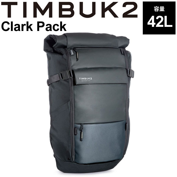 バックパック TIMBUK2 ティンバック2 クラークパック OSサイズ 42L/リュックサック ロールトップ ザック B4サイズ対応 鞄 かばん Clark Pack 正規品/136534730【取寄】