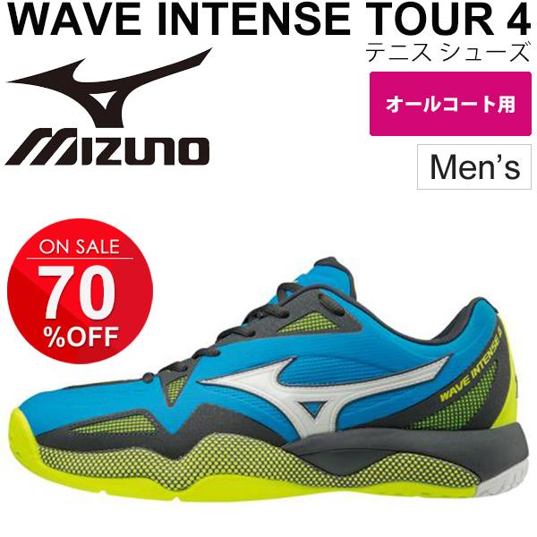 テニスシューズ メンズ/ミズノ Mizuno ウエーブインテンスツアー4AC オールコート用 男性 WAVE INTENSE TOUR 4 AC ソフトテニス/61GA1800