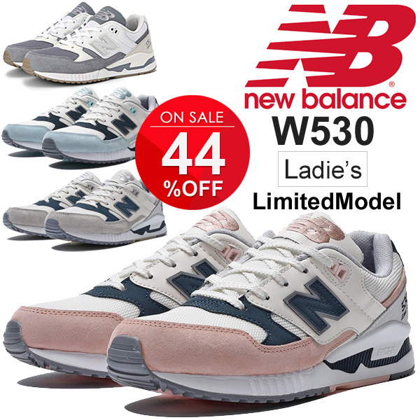 530 series regular article W530 for the lady's sneakers New Balance newbalance limited model low frequency cut sports casual shoes B width sports