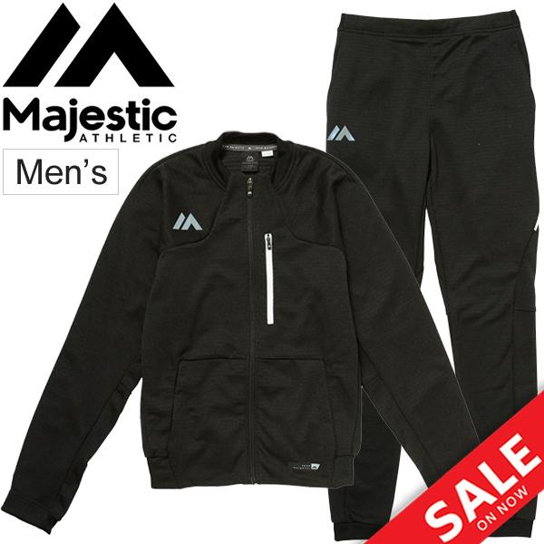 スウェット 上下セット ジャケット パンツ トレーニングウェア メンズ マジェスティック Majestic ベースボールウェア 男性用 野球 ジム スエット スポーツウェア/MAJ0036-MAJ0015