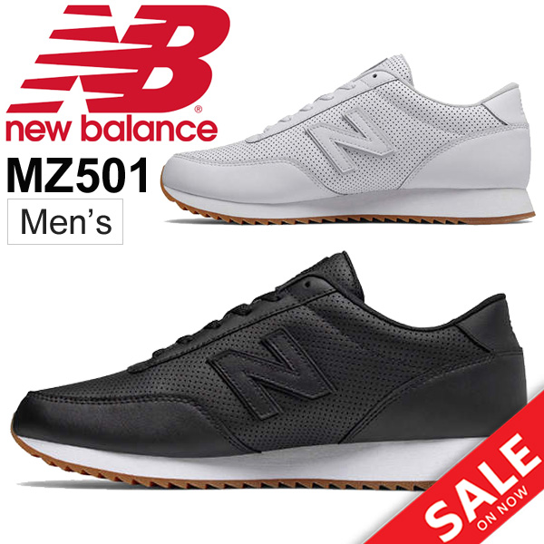 9302ca562f Men's shoes newbalance New Balance MZ501 leather sneakers low-frequency cut  man D width Pau Thika dual shoes nature leather black white sports shoes ...
