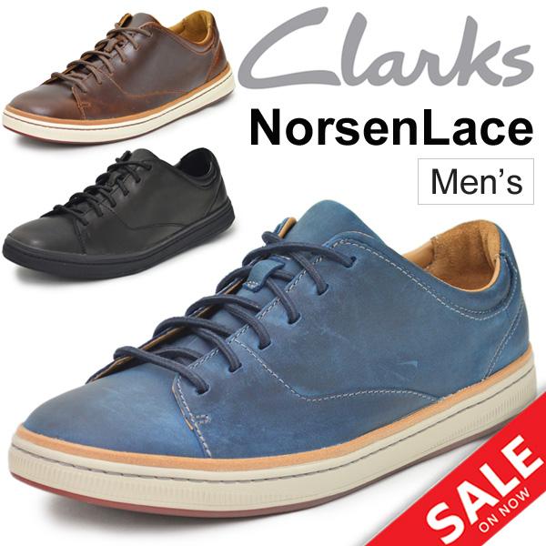 レザースニーカー メンズ クラークス Clarks NORSEN LACE 男性 カジュア 紳士靴 ノーソン レース 本革 カジュアルシューズ 正規品 2612829/26127830/26127831 /NorsenLace