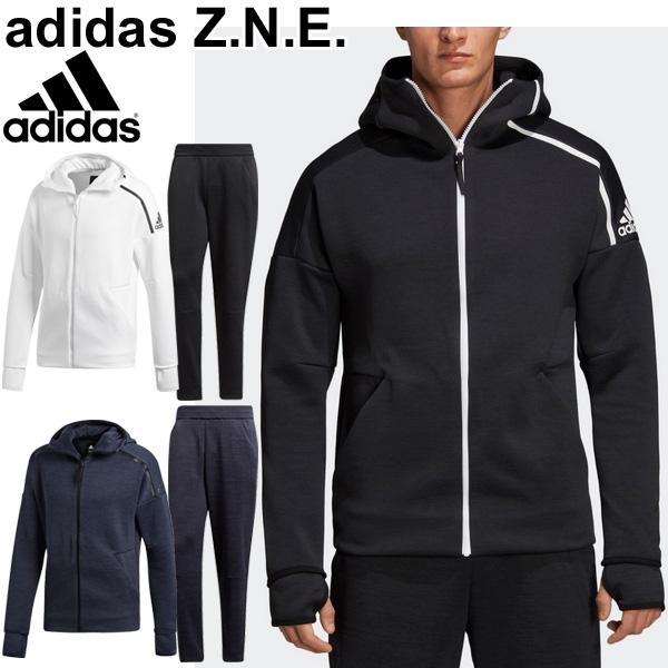 ジャージ フルアップパーカー テーパードパンツ メンズ/アディダス adidas Z.N.E. スポーツウェア 男性用 セットアップ スウェット 上下組 ゼットエヌイー/EVT16-EVT17