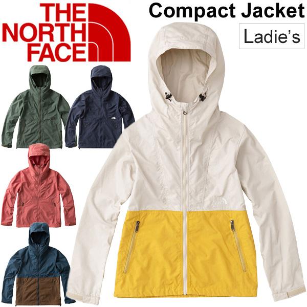 シェルジャケット レディース/ザノースフェイス THE NORTH FACE コンパクトジャケット/アウトドアウェア 女性用 アウター 撥水 軽量 普段使い 旅行 上着 収納袋付/NPW71830