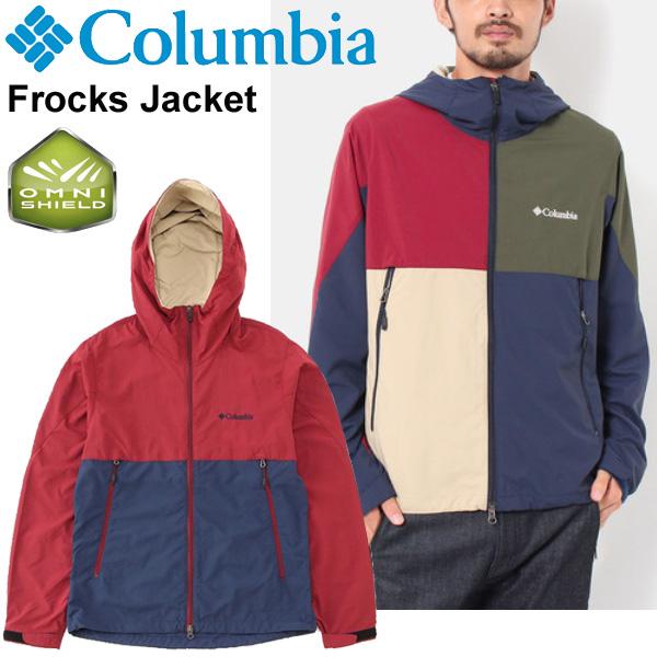 アウトドア ジャケット メンズ/コロンビア columbia フロックスジャケット/ナイロンジャケット 撥水 防汚 男性用 アウター/キャンプ 野外フェス タウン ジャンバー ブルゾン 上着/ PM3412