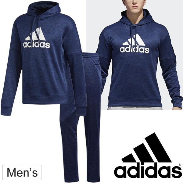 スウェット 上下セット メンズ アディダス adidas M ESS ポリエステル プルオーバーフーディ パンツ/トレーニングウェア 男性 裏起毛 スウェット セットアップ 運動 スポーツウェア 上下組/FAS62-FAS53