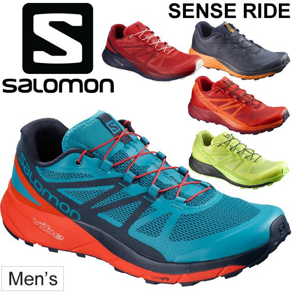 トレイルランニング シューズ メンズ サロモン salomon SENSE RIDE センスライド 男性 トレイルシューズ ローカット レース用 トレーニング 長距離ラン 靴 トレラン/L404850 L404848 正規品/SenseRide
