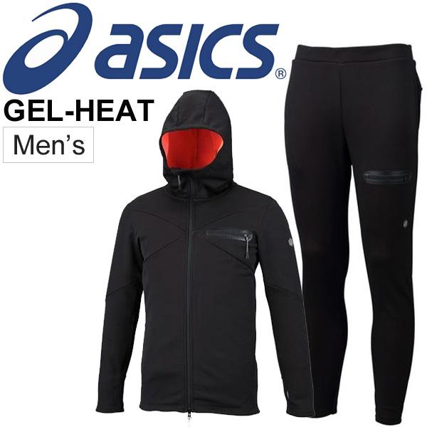 トレーニングウェア 上下セット メンズ アシックス asics GEL-HEAT フルジップフーディー パンツ 2031A072 2031A100 スポーツウェア 男性 フリース トレーニング 上下組 セットアップ/2031A072-A100