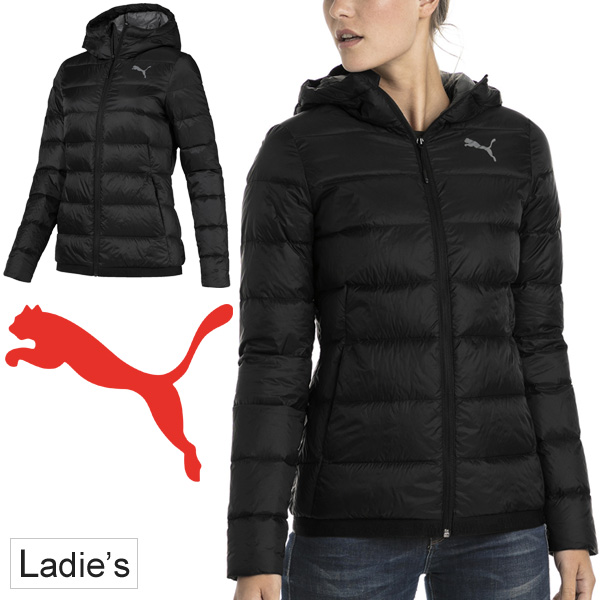 ダウンジャケット レディース アウター プーマ PUMA PWRWARM パッカブル LITE/スポーツウェア 女性 防寒着 コート フード付き ブルゾン 軽量 カジュアル/853625