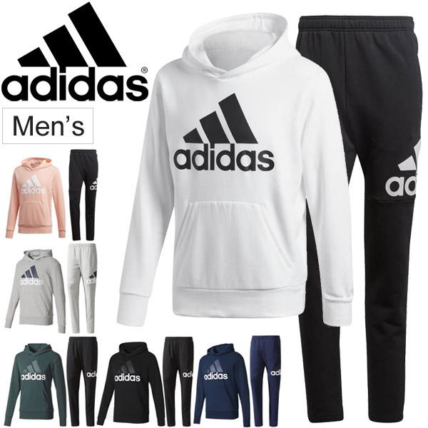スウェット パーカー パンツ 上下セット メンズ アディダス adidas トレーニング ジム スポーツ カジュアル ウェア 男性 スエット 裏毛 フード ジョガーパンツ/BVC41-DSD07