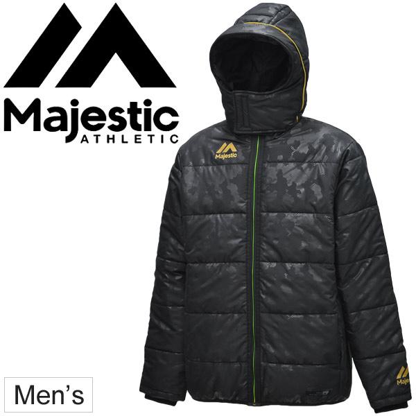 中綿ショートコート メンズ アウター ジャケット マジェスティック Majestic スポーツウェア 防寒 軽量 迷彩柄 ブルゾン ジャンバー 野球 トレーニング 試合観戦 普段使い/XM23MAJ039