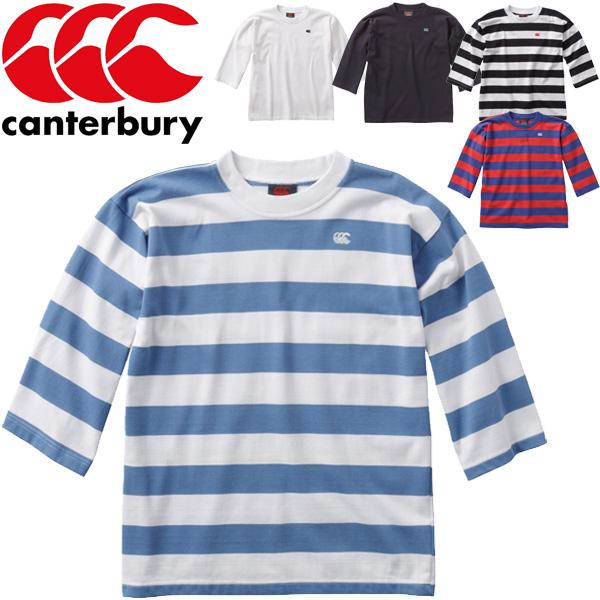 Tシャツ 七分袖 メンズ カンタベリー canterbury NZ 3/4 スリーブ ジャージ/ニュージーランド製 男性用 クルーネックラグビー スポーツカジュアル 紳士服 トップス /RA98003