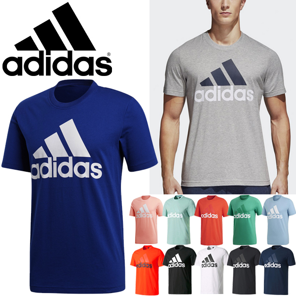 b7787fea8 Short-sleeved T-shirt men Adidas adidas ESSENTIALS big logo logo T crew  neck ...