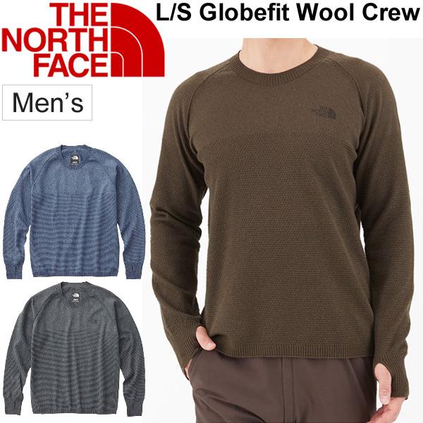 クルーネックセーター メンズ/ザノースフェイス THE NORTH FACE グローブフィットウールクルー/アウトドア 普段使い 男性用 無地 ワンポイント シンプル トップス 日本製/NT61806