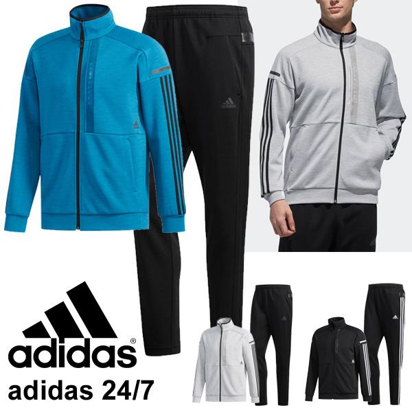 トレーニングウェア 上下セット スウェット メンズ アウター アディダス adidas 24/7 ヘザー ウォームアップジャケット ロングパンツ/スポーツウェア 男性用 スエット カジュアル/FTL51-FTL50