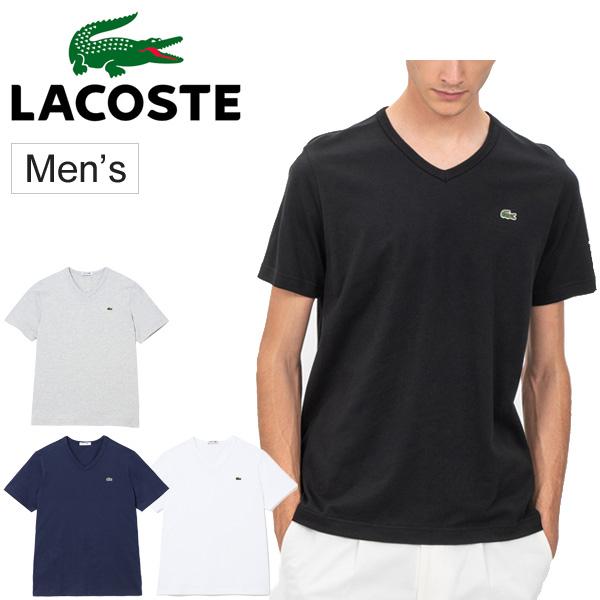 Tシャツ 半袖 メンズ ラコステ LACOSTE ベーシック Vネック TEE 丸首 ワニ ワンポイント わに ロゴ カジュアル スポーツ ウェア 紳士・男性用 スリムフィット トップス/TH632EM