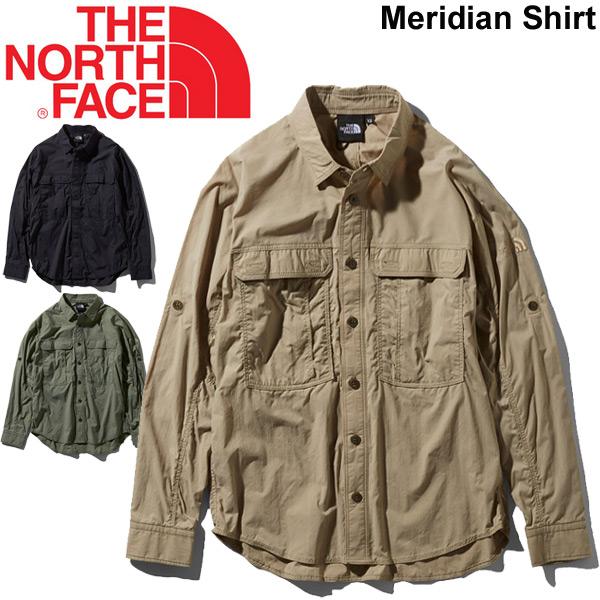 長袖シャツ メンズ レディース ノースフェイス THE NORTH FACE メリディアンシャツ 山シャツ UVカット はっ水 静電気防止 アウトドア キャンプ カジュアル ユニセックス トップス/NR11962