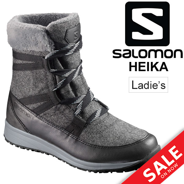 ウィンターブーツ シューズ レディース/サロモン SALOMON HEIKA CS WP/防水ブーツ L394523 女性用 防滑 軽量 ツイード/雨雪 ハイキング カジュアル 靴 くつ 正規品/HEIKA