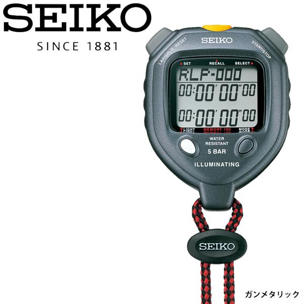 送料無料 セットアップ ストップウォッチ 開店祝い イルミネーティングライト 電池式 セイコー SEIKO タイム計測 スポーツ用品 ガンメタリック 取寄 HSC-SVAE301