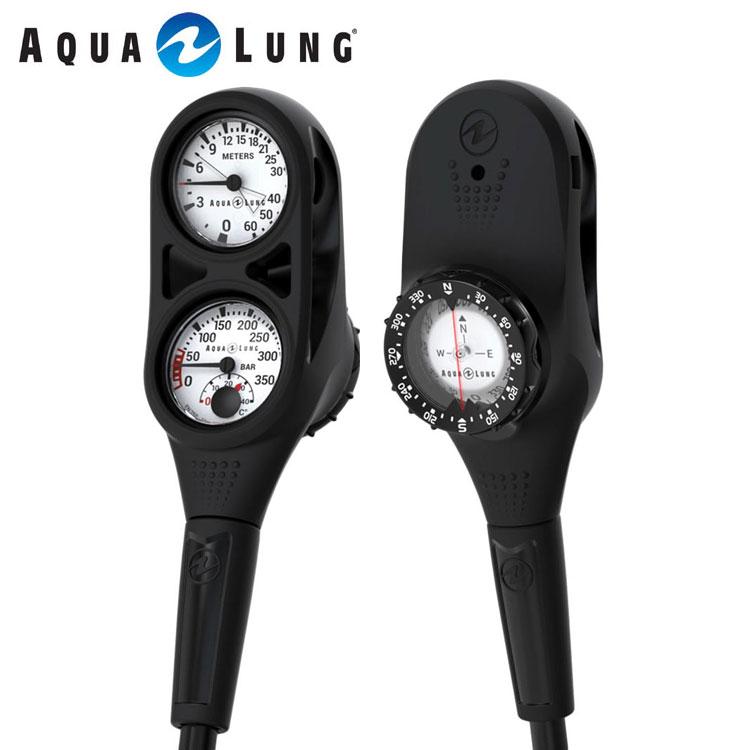 ゲージ AQUALUNG/アクアラング プレシス3ゲージ(残圧計+水深計+コンパス)