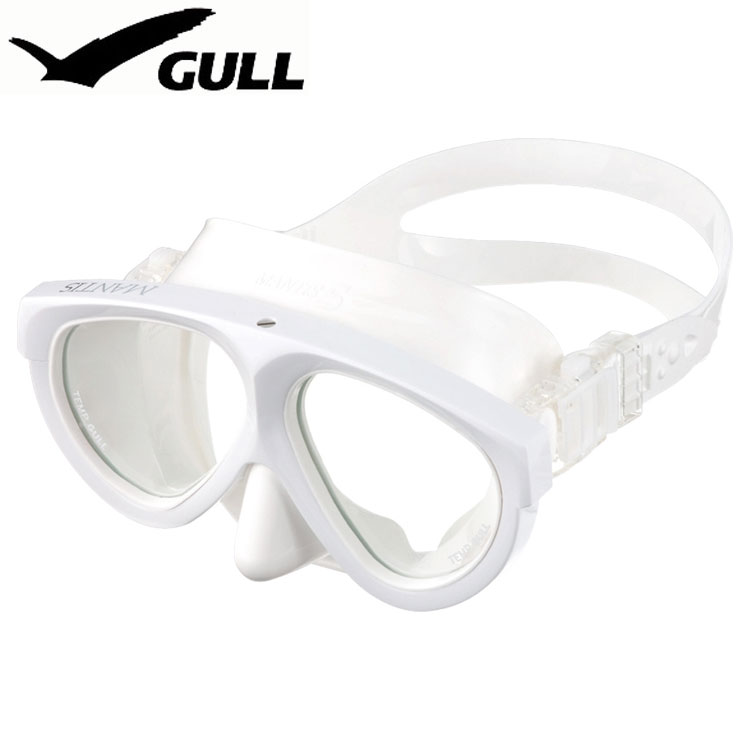 【ダイビングマスク】GULL/ガル マンティス5ホワイトシリコン GM-1036[301090690000]