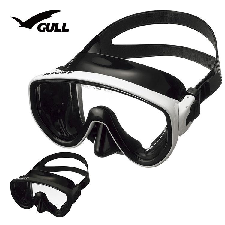 ダイビング マスク GULL ガル アビームブラックシリコン GM-1432 軽器材 一眼マスク