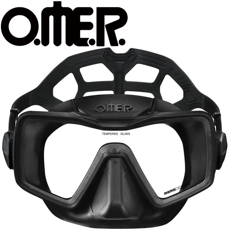 フリーダイビング マスク O.ME.R オマー アプネア スキンダイビング 軽器材