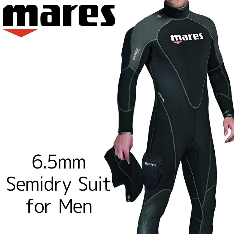 ウェットスーツ セミドライ メンズ mares マレス フレクサ サーモ ダイビング ウエットスーツ 6.5mm|サーフィン ジェットスキー ウェット ウエット スーツ スキンダイビング シュノーケリング スノーケリング