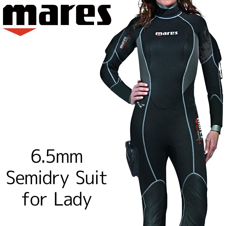 ウェットスーツ セミドライ レディース mares マレス フレクサ サーモ シーダイブス ダイビング ウエットスーツ 6.5mm|サーフィン ジェットスキー ウェット ウエット スーツ スキンダイビング シュノーケリング スノーケリング ウェットスーツレディース