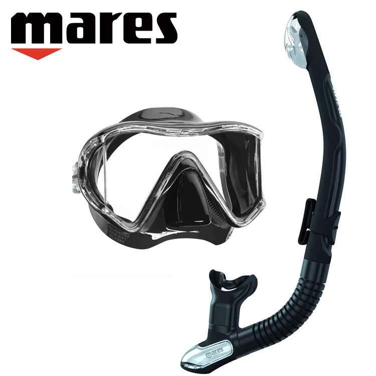 mares マレス スキューバダイビング マスク シュノーケル ダイビング 軽器材 2点セット 【i3-ERGOdry】 i3 エルゴドライ セット シュノーケリング スキンダイビング 素潜り 軽器材セット