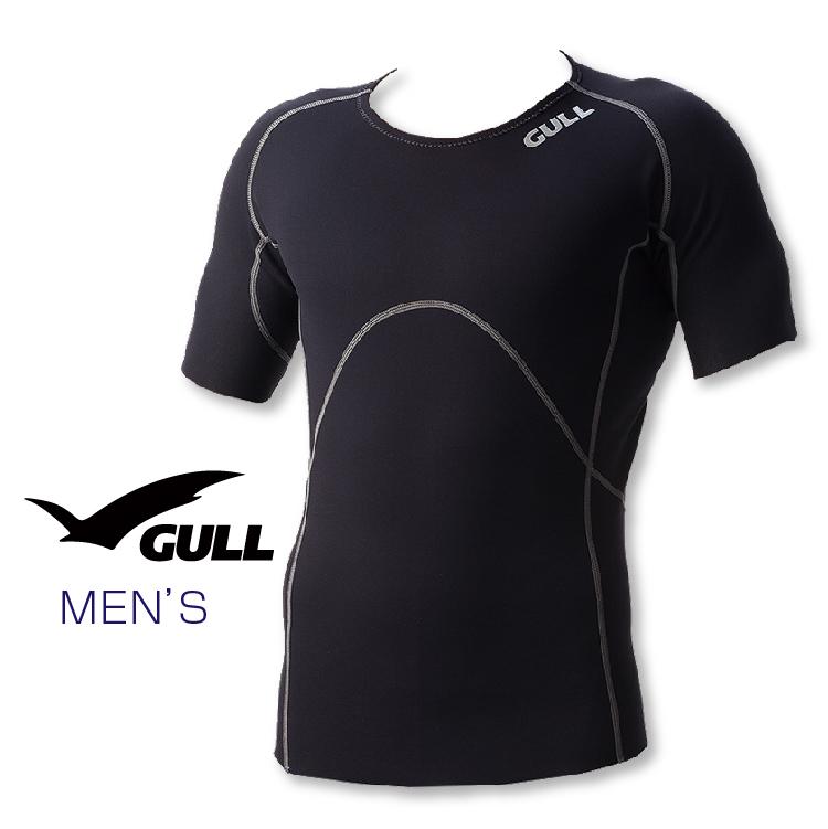 インナー GULL/ガル 1mmSCSショートスリーブ メンズ ダイビング インナー 半袖 男性用