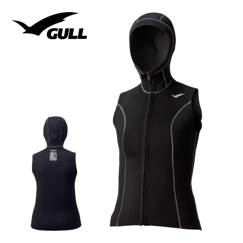 フードベスト GULL/ガル 2mm×3mmFIRフードベストメ ウィメンズ GW-6646 スノーケリング ダイビング アウトドア フード ベスト インナー 防寒対策 マリンスポーツ スイムウェア 女性用