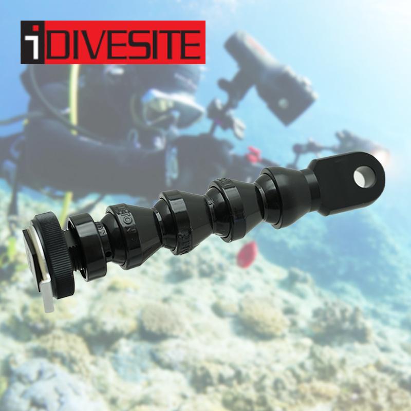 I-DIVESITEのフレキシブルYSアーム INON、Fisheye、CC等各社製品との互換性あり ホットシュー用 I-DIVESITE YSアダプター 5インチ ホットシュー用 ロックライン 水中撮影 水中ライト アクセサリ 水中カメラ 写真 動画 撮影