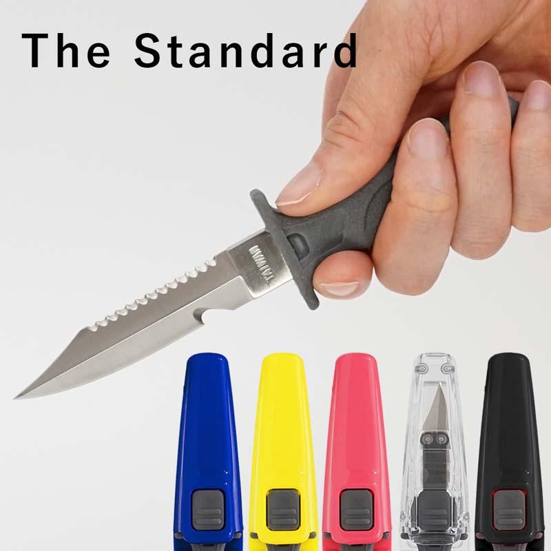 ブレード8cm 使いやすく収納しやすいミニナイフ ダイバー ナイフ 出荷 304 ステンレス製 The Standard ザ 人気の定番 アクセサリー パーツ 水中ナイフ ダイビング クイックリリース スタンダード