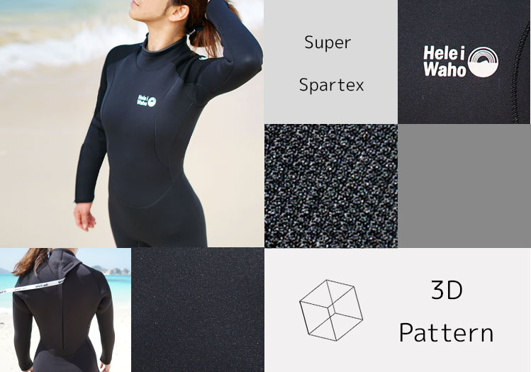 Hele i Waho / ヘレイワホ 5 mm wetsuit (Fursuit) women's クラシックマリン