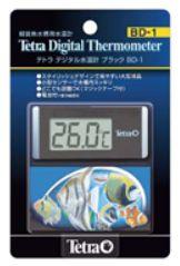 チープ スタイリッシュなデジタル水温計 アクアF数量限定大特価品 tetra 熱帯魚 人気 おすすめ デジタル水温計ブラック BD-1数量限定大特価 飼育用品テトラ