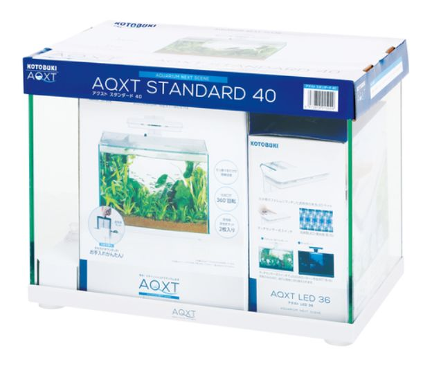 【コトブキ】アクストスタンダード40(405×255×310ミリH)水槽、フィルター、タッチパネル式LEDセット