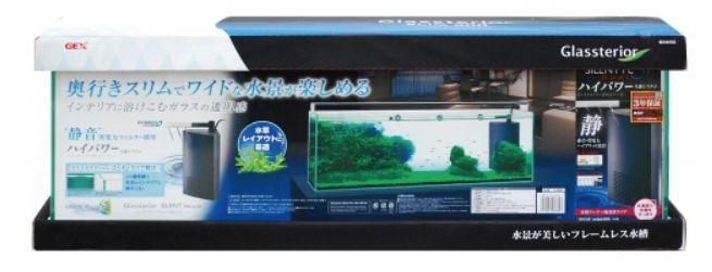 【GEX】水槽+フィルターセットグラステリアサイレントスリム900(90×22×30H)54リットル+サイレントフローデュアル ブラック大特価!