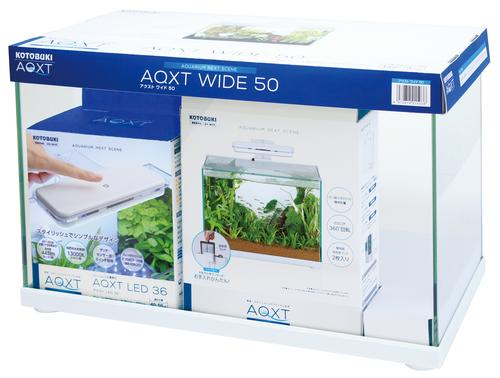 【コトブキ】コトブキ工芸 AQXT WIDE 50(アクストワイド50)W505×D255×H340(35L) ガラス水槽