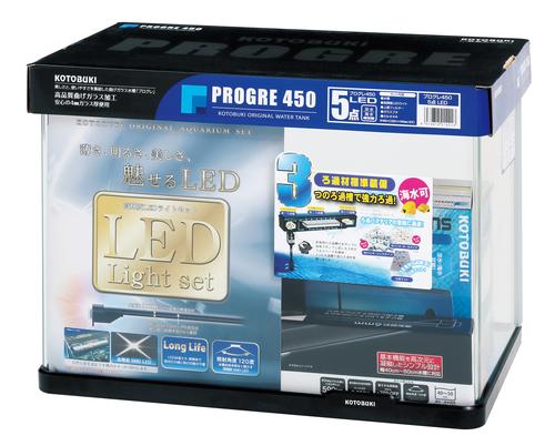 【コトブキ】コトブキ工芸 プログレ450 5点 LEDW460×D300×H340(42L) ガラス水槽